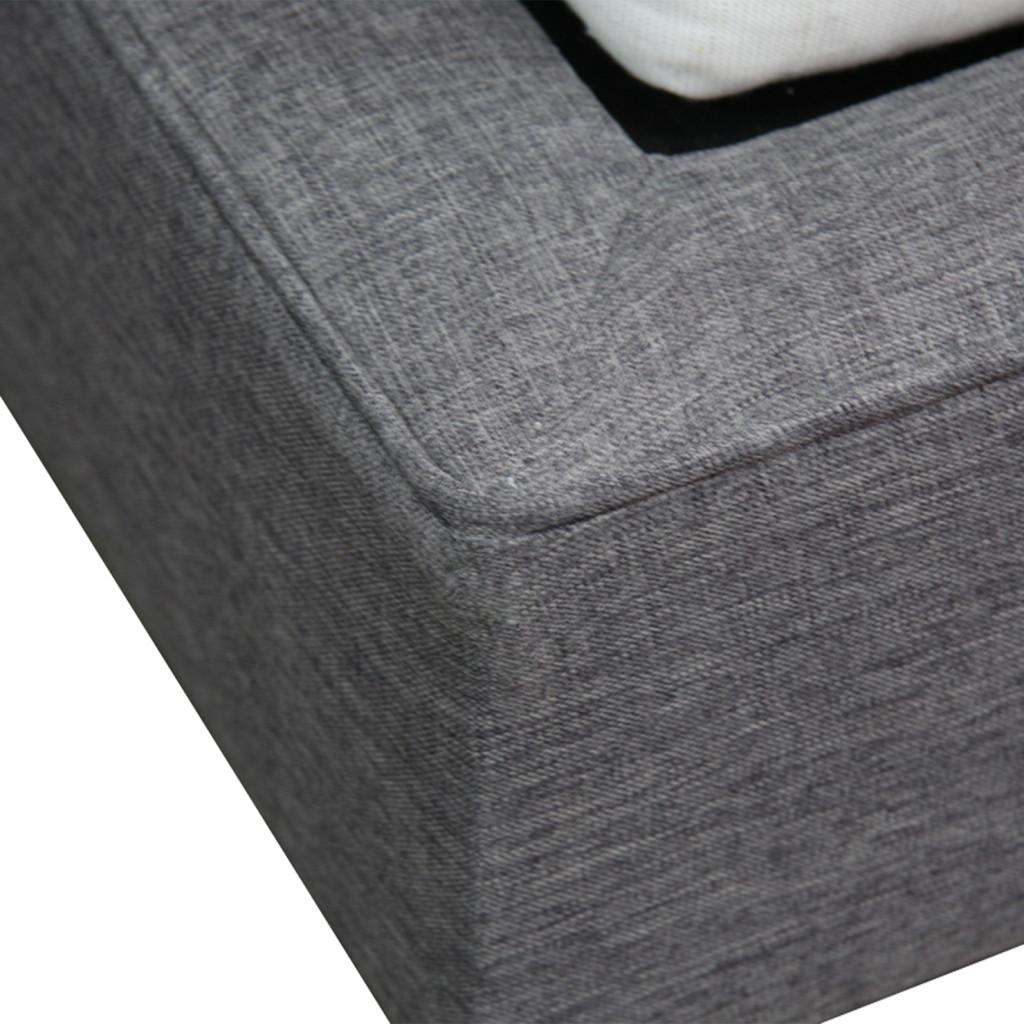 Fabricarte | Cama Curvi Individual SemiLino Gris Oxford