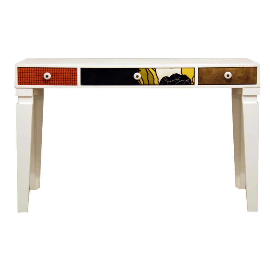 Fabricarte patch escritorio o tocador con cajones for Dimensiones mesa escritorio