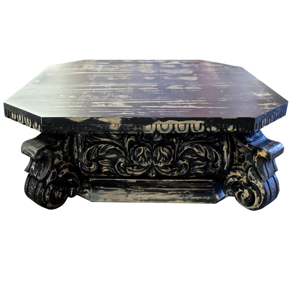 Fabricarte mesa de centro kapitell negra - Mesa centro negra ...