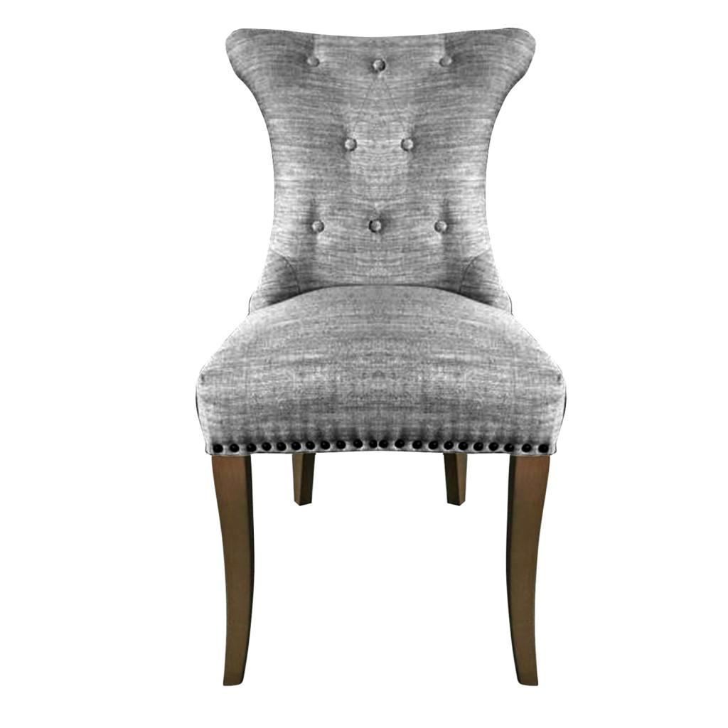 Sillas comedor grises comedor cristal con sillas blancas for Sillas de comedor tapizadas en gris